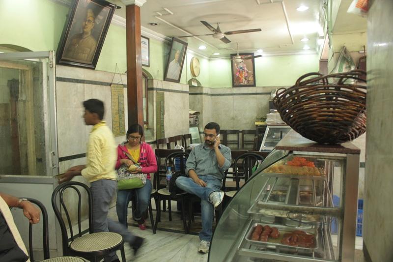 Inside Deshbandhu Mistan in Kolkata