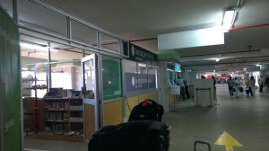 Taxi Counters at Jomo Kenyatta International Airport in Nairobi.