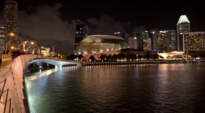 An Evening Walk in Marina Bay, Singapore