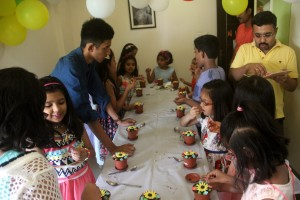 Flower making birthday party (7)