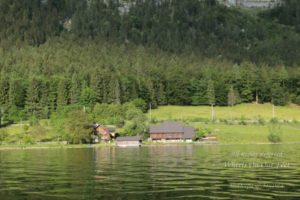 Boating in Hallstat, Austria