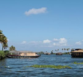 Houseboat cruise in the backwaters of Kerala, India