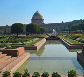 The Mughal Gardens, Rashtrapati Bhavan in Delhi, India
